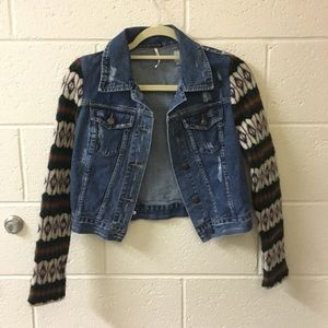 NWOT Free People Denim jean Jacket